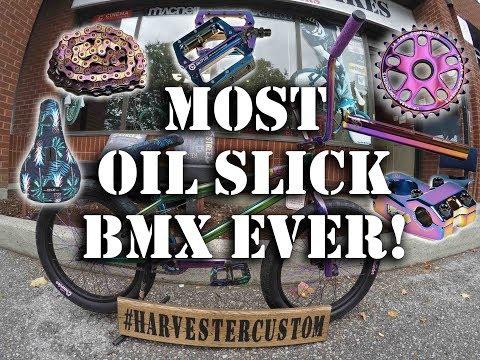 THE MOST OIL SLICK BMX EVER! #harvestercustom BMX @ Harvester Bikes