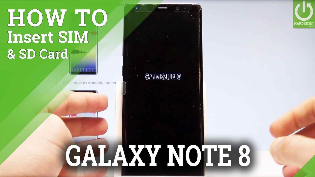 How To Insert SIM SD In SAMSUNG Galaxy Note8