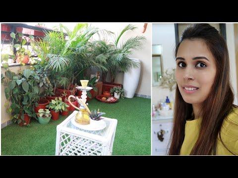 My Balcony Tour Vlog || Indian balcony garden decoration idea