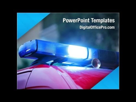 road police powerpoint template backgrounds - digitalofficepro, Modern powerpoint