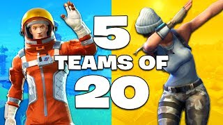 *NEW GAME MODE* TEAMS OF 20 UPDATE!! (Fortnite Battle Royale)