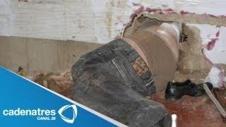Impresionantes imágenes!!! Un hombre que queda atorado entre dos paredes en China (VIDEO)