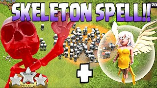 Clash Of Clans - 1 HEALER + ALL SKELETONS SPELLS!! (Clash of clans new update!!)