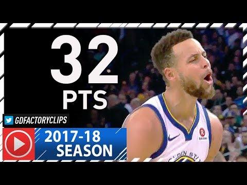 Stephen Curry Full Highlights vs Knicks (2018.01.23) - 32 Pts, 7 Ast, 8 Threes!