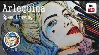 ARLEQUINA (Esquadrão Suicida) Speed Drawing