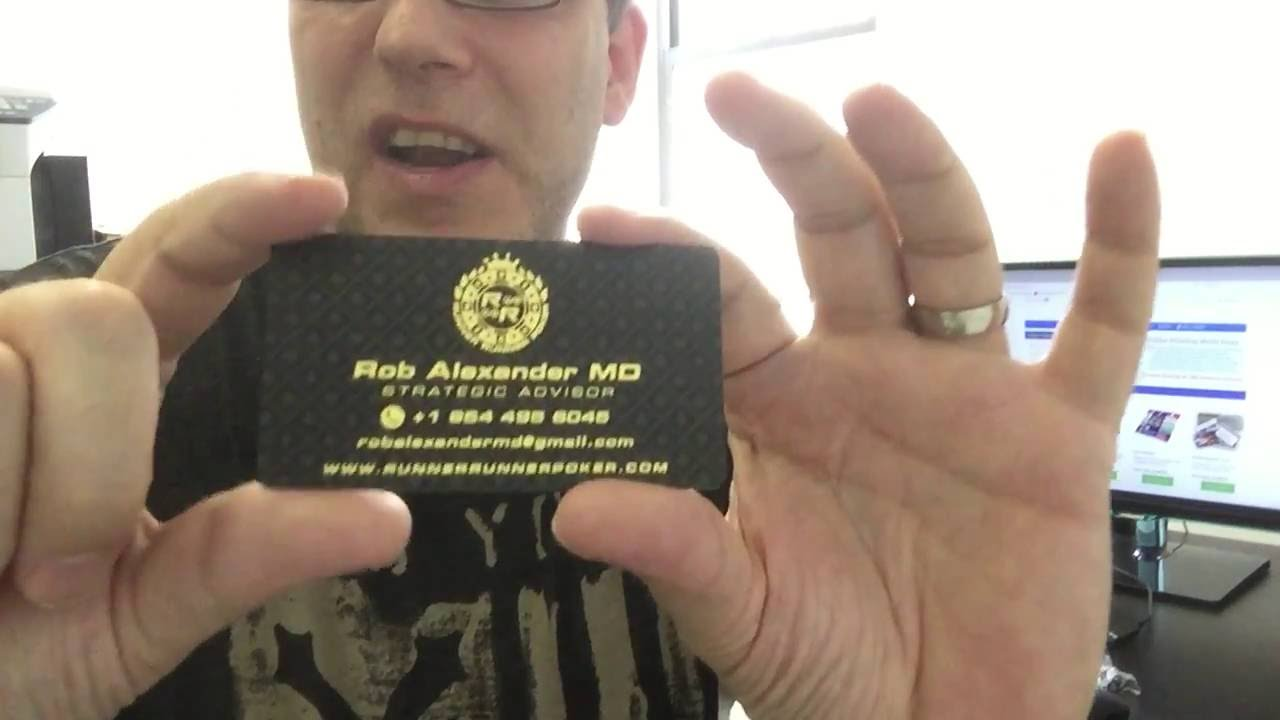 Premium Silk Business Cards - YouTube