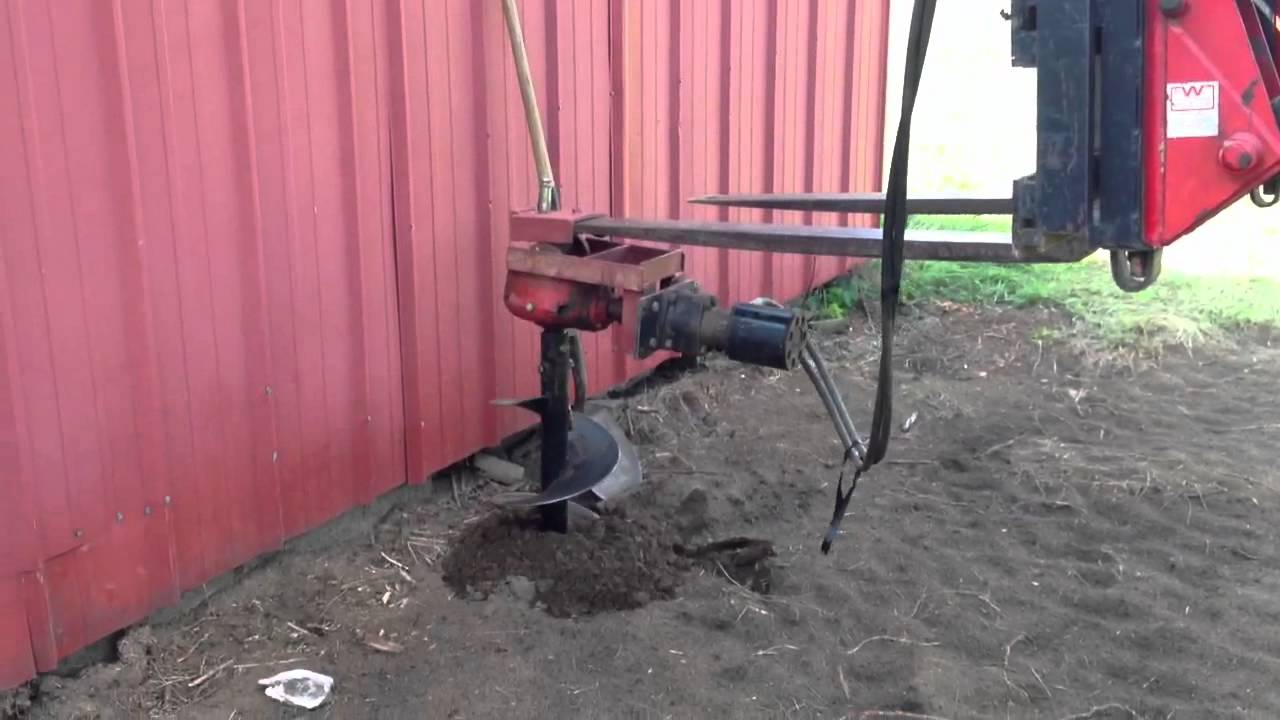 Home made post hole digger