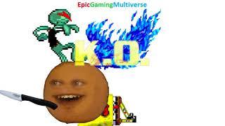 SpongeBob SquarePants And Squidward VS Burnie And Annoying Orange In A MUGEN Match / Battle / Fight