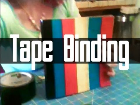 Duct Tape Book Binding Tutorial