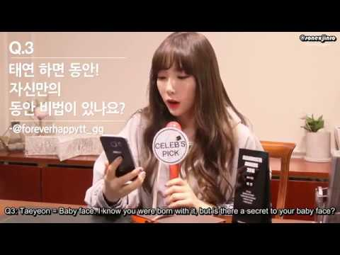 [Eng Sub] Celeb's Pick - Interview with Taeyeon 161201