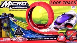 Micro Chargers Cars Stunt Loop Track Ultimate Review by Moose Toys Racing Challenge car-toys