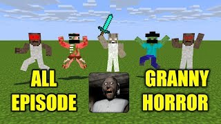 Monster School : ALL GRANNY HORROR GAME CHALLENGE - Scary Minecraft Animation
