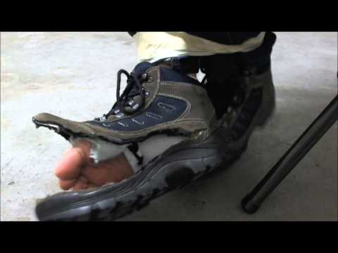 Killing old hiking boots before throwing them out, part 1