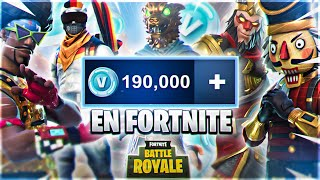 2 EXCLUSIVE SKINS IN FORTNITE 190,000 PAVOS WITH ALL SKINS AND GAMES IN FORTNITE BRUTAL!