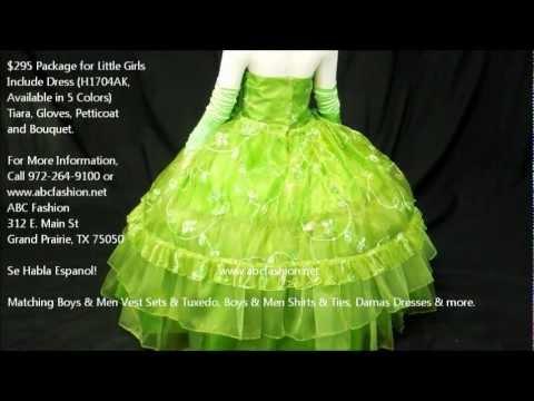 9a3fb0b0e 3 Anos Dresses, Verde Vestidos de 3 Anos, First Communion Dress, Vestidos  de Presentacion de 3 Anos