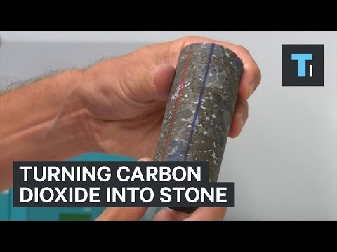 Turning carbon dioxide into stone