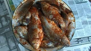 Жарим рыбу на мангале