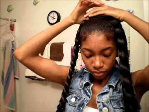 keyshia dior kaior inspired jumbo braid tutorial short hair shaved sides youtube