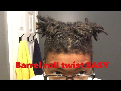 HOW TO DO A BARREL ROLL TWIST/ BRAIDS FOR SHORT DREADS/BEGINNERS (EASY)