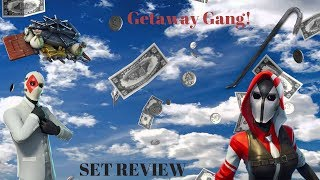 Fortnite Getaway Gang Set Review | Wild Card | The Ace | Crowbar | Safe Cracker|