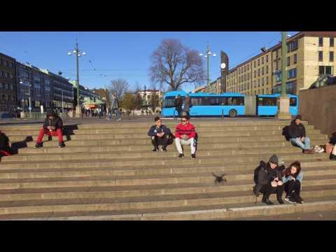 Sweden, Gothenburg , Brunnsparken2017 _ 4K (sincam Afficial)