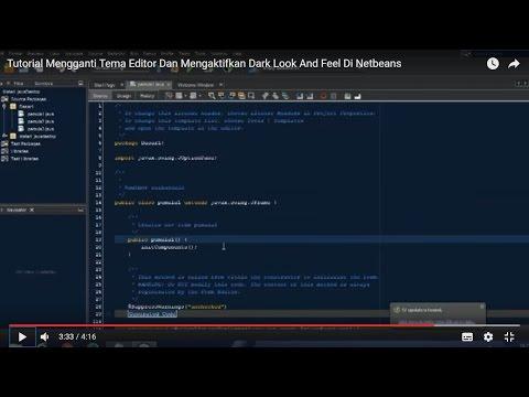 Cara Mempercantik Tampilan Java Netbeans