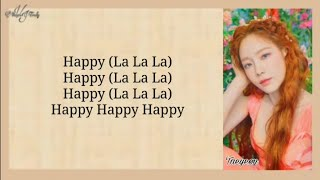 Gambar cover Taeyeon - Happy (Easy Lyrics)