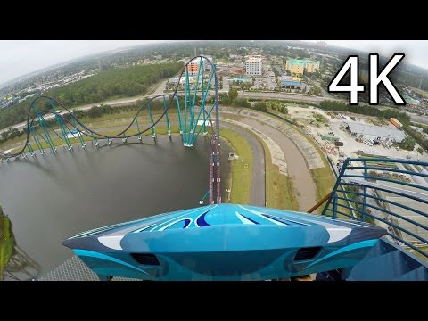 Mako front seat on-ride 4K POV SeaWorld Orlando