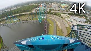 Mako front seat on-ride 4K POV SeaWorld Orlando