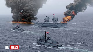 War begins (Jan 23,2021) China Navy fires Missiles to Warn UK Aircraft carrier & US Warships in SCS
