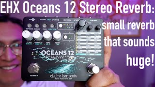 Electro-Harmonix Oceans 12 Stereo Reverb - Compact design that packs a huge punch!