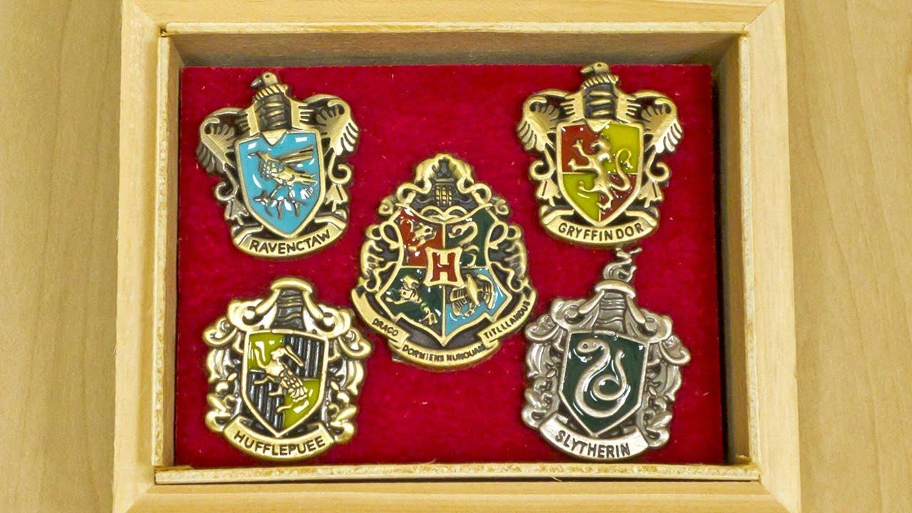Harry Potter Hogwarts House Metal Pin Badge Set Collection   DealExtreme DX