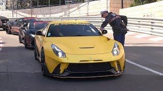 Police stops Noisy Ferrari F12berlinetta ONYX Concept F2X Longtail