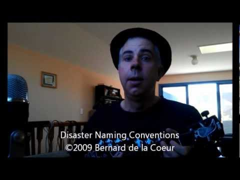 Disaster Naming Conventions