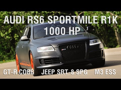 Audi Sportmile R1K vs Jeep STR-8 vs Nissan GT-R Cobb vs BMW M3 ESS