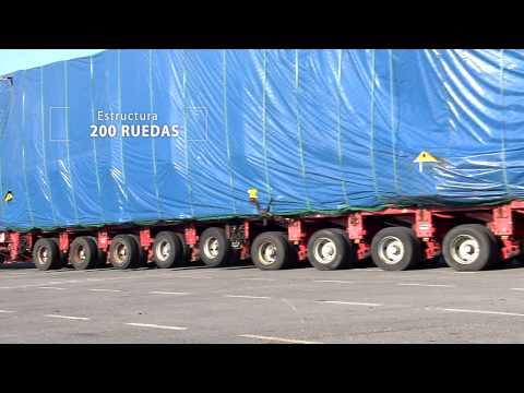 Un molde de palas eólicas sobre 200 ruedas | ACCIONA