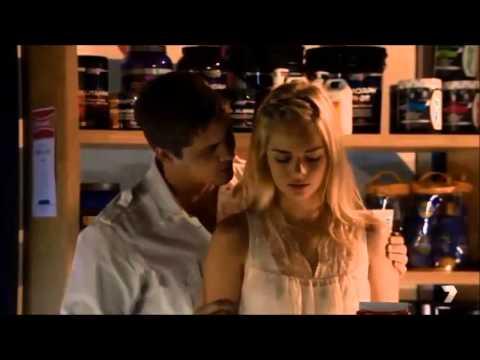 Movie scene neck kiss