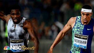 Michael Norman upsets Noah Lyles at Diamond League | NBC Sports