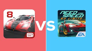 Asphalt 8 Airborne VS Need For Speed:No Limits - Points | UP TECH BRASIL