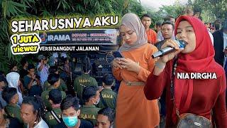 Download LAGU VIRAL SEHARUSNYA AKU VERSI DANGDUT JALANAN    SEMUA PENONTON DI BIKIN BAPER
