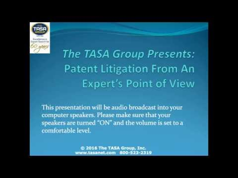 Patent Litigation from an Expert's Point of View