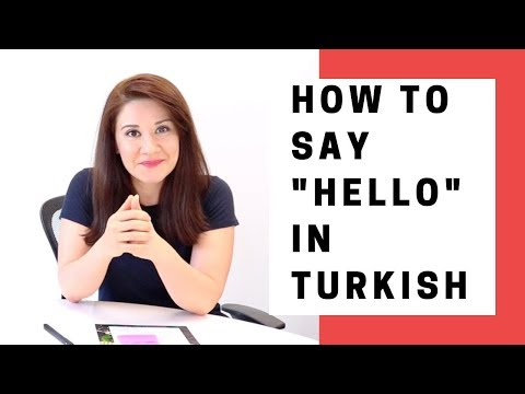 """Learn Turkish Speaking - How to say """"Hello"""" in Turkish"""