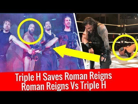 WWE Live Abu Dhabi Highlights Triple H Saves Roman Reigns Roman Reigns vs Triple H Abu Dhabi 2017