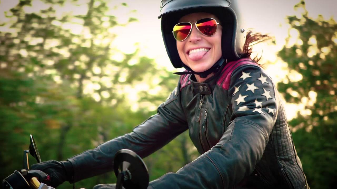 held laxy damen motorrad lederjacke von held