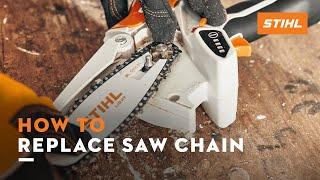 STIHL GTA 26 - Replacing the saw chain