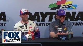 Denny Hamlin & Joe Gibbs on Daytona 500 win, J.D. Gibbs | INTERVIEW | 2019 DAYTONA 500