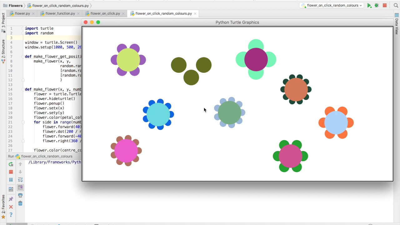 Making Flowers in Python