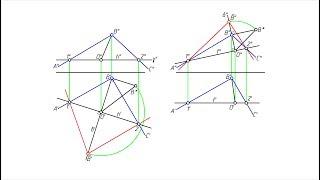 Определение величины угла. Способ вращения вокруг линии уровня