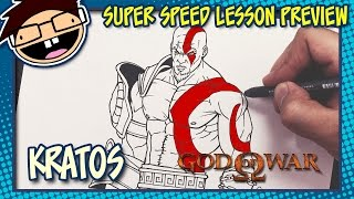 Lesson Preview: How to Draw KRATOS (God of War) | Super Speed Time Lapse Art