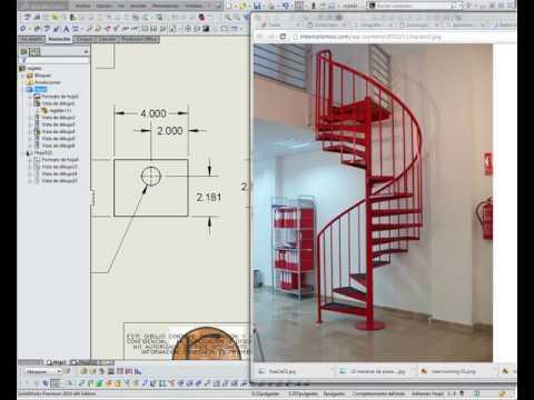 Modelado de escalera en espiral youtube - Escalera en espiral ...